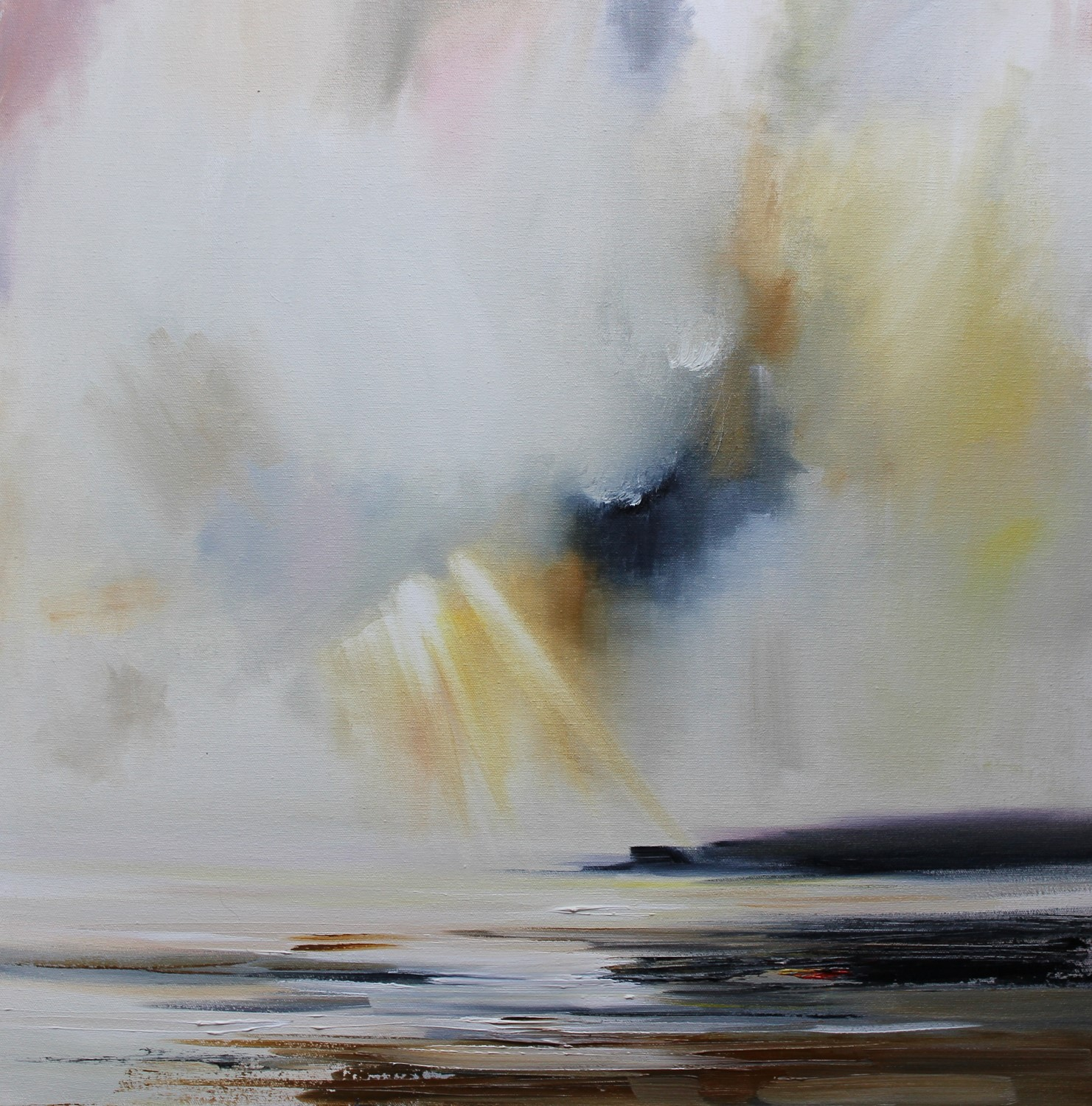'Shaft of Light hitting the Headland' by artist Rosanne Barr